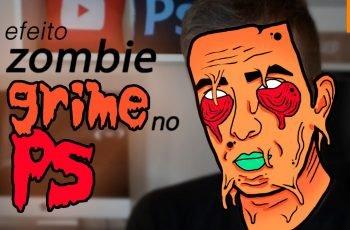 Efeito Zumbi Derretido no Photoshop | Zombie Grime