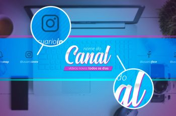 Banner para Canal do YouTube totalmente editável no Photoshop